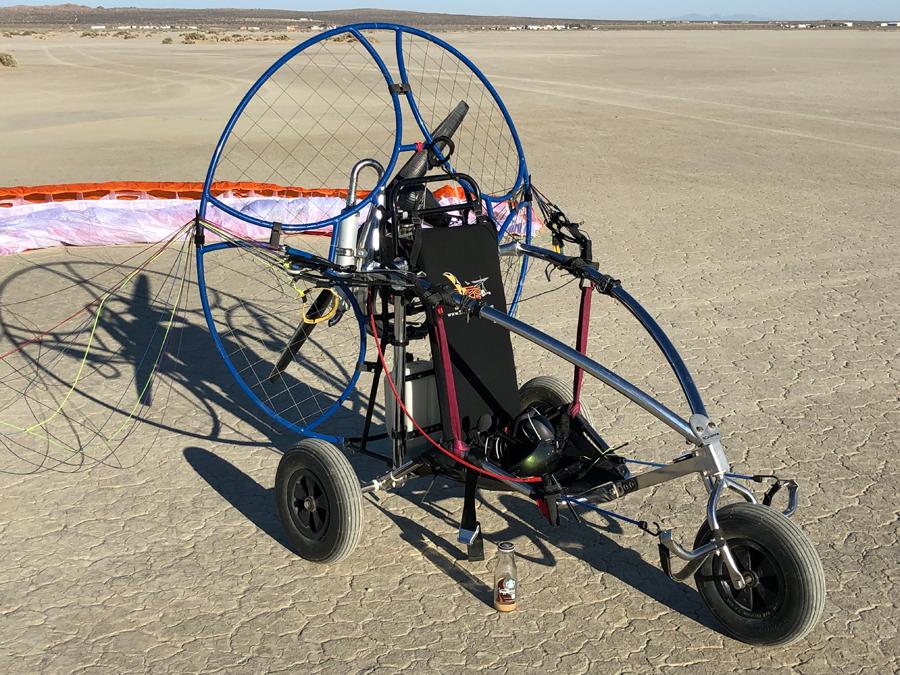Minari Paramotor and TrikeBuggy Mini-Bullet Combo using the